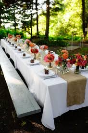 Love the burlap & flowers! Perfect for an outdoor setting. Top 35 Summer  Wedding Table Dcor Ideas To Impress Your Guests