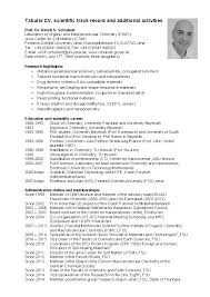 Tabular Cv Template Curriculum Vitae Archives Page 5 Of 29 Pdfsimpli