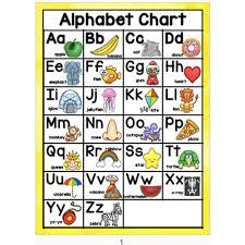 10pcs Set English Phonics Posters A4 Big Card Alphabet Chart