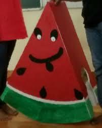 Black Colour Chart Paper Craftstation Watermelon Mascot