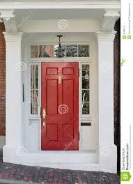 elegant front doors. Delighful Elegant Red Front Door With White Frame And Windows On Brick Street For Elegant Doors L