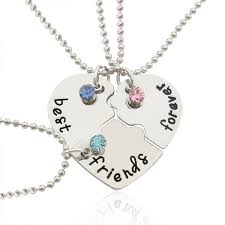 best friends forever and ever necklace 3 pcs set inlaid rhinestones best friend gift necklace souq uae