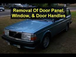door panel window inside and outside handle removal on a volvo 240 series votd