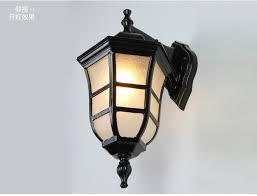 american vintage wall lamp led outdoor wall sconce lighting ip65 waterproof garden wall light fixtures iron