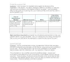 Organization Budget Template Organizational Format