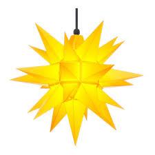 Herrnhuter Stern Kunststoff A4 Gelb