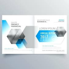 Report Cover Page Template Modern Abstract Brochure Design ...