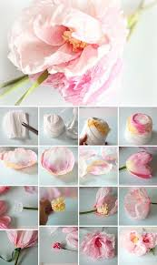 Flower Making With Crepe Paper Step By Step Diy Paper Flowers Diy Ideas Pinterest Paper Flowers Diy Paper