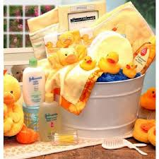 bath time for baby gift basket for new baby