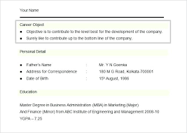 Resume Format For Mba Marketing Fresher Mba Marketing Resume Sample