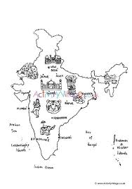India Map Colouring Page Girl Scout Swap India Map Coloring