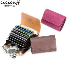 men genuine leather business card holder vintage solid simple card wallet id credit card male purse short coin purse for women