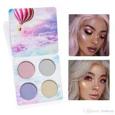 2018 new4colour handaiyan chameleon highlighter palette face contour makeup highlighting bronzer glow aurora shimmer eyeshadow cosmetic kit best eyeshadow