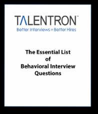 Behavioral Interviews Sales Behavioral Interview Questions List