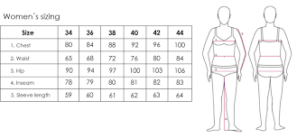 Chest Size Chart 2117 Size Guide