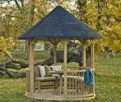 wooden gazebo 40 round roof pressure