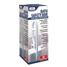 adjule bathtub grab bar safety rail bathroom safety clamp on handle