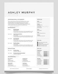 Simple Resume Designs 20 Professional Ms Word Resume Templates With