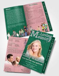 Funeral Pamphlet Templates Interesting 48 Page Graduated Step Fold Funeral Program Template Brochure Elegant