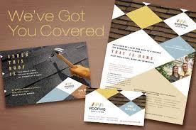 Roofing Contractor Marketing Materials Brochure Flyer