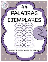 Word Patterns New Spanish Word Patterns Exemplar Word Cards Palabras Ejemplares
