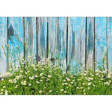 Image Wallpaper Daisy Flowers Blue Faux Rustic Wood Fence Spring Backgrounds Vinyl Cloth High Quality Computer Print Wall Photo Backdrop Aliexpress Daisy Flowers Blue Faux Rustic Wood Fence Spring Backgrounds Vinyl