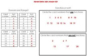 Range And Domain Domain And Range Matching And Sorting Activity By Scaffolded Math