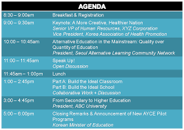 Sample Conference Agenda Hannah's Solution Part 24 Annual AYCE Conference Save The 16