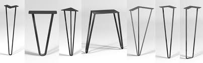 table metal legs. seven-styles-of-hairpin-legs table metal legs