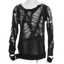 cardigan goth goth gothic ripped clothing black spikes pastel goth