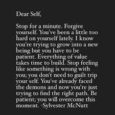 Stop Being Hard On Yourself Quotes Best of 24 Best Dear SELF Images On Pinterest Wisdom Words And The Words
