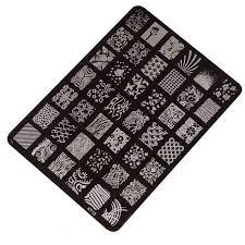 Amazon.com : Sannysis Nail Stamping Printing Plate Manicure Nail ...