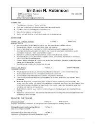 Child Care Job Description Resume From Substitute Teacher Template