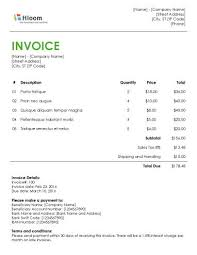 Invoice Formats In Word - Kleo.beachfix.co
