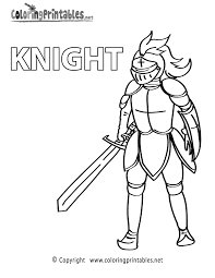 Small Picture Knight Colouring anfukco