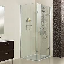 decem outward opening hinged door with one inline panel and side panel for corner fitting