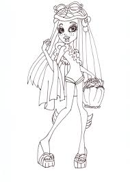Monster High Free Printable Coloring Pages