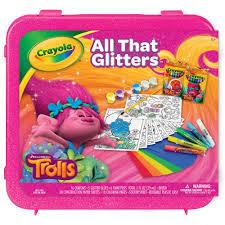 crayola trolls all that glitters 50 piece sparkleing art set walmart
