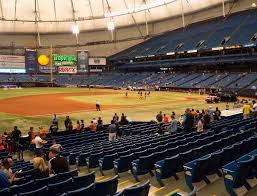 Rays Seating Chart With Rows Tropicana Field Section 123 Seat Views Seatgeek