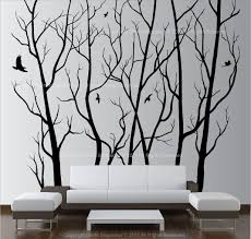 large wall art decor vinyl tree forest decal sticker choose size for large wall art large on vinyl wall art ideas with large wall art decor vinyl tree forest decal sticker choose size for