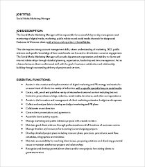 Marketing Officer Job Description Adorable 48 Marketing Job Description Templates PDF DOC Free Premium