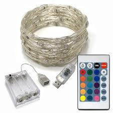 Usb Fairy Lights Rtgs 80 Multi Color Changing Led String Lights Usb Powered On 24 Feet Silver Color Wire With Remote Control 16 Colors Timer 4 Functions And Dimmer