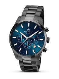 accurist mens blue chronograph watch 7137 accurist watches