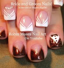 Cute Wedding Nails | Easy Bride and Groom Nail Art Design Tutorial ...