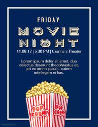 Go Movie Night Template Free Flyer Microsoft Premium Cover Konfor