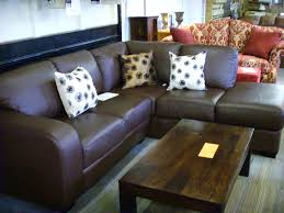 ... Incredible Modern Small Corner Sofas For Small Rooms Best Sample  Leather Rectangular Shape Brown Colored ...