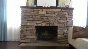 Fireplace Refacing Cost Install Stone Veneers Over Old Brick Fireplace Diy Youtube