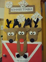 Reindeer Door. School Door DecorationsDiy Christmas ...