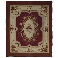 french romanticism antique aubusson rug for