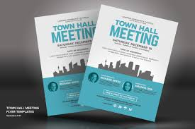 Meeting Flyer Design Town Hall Meeting Flyer Psd Template 66046 Town Hall